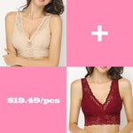 Anti-sagging Breathable Romantic Lace Plunge Deep Full Busted Wireless Bras