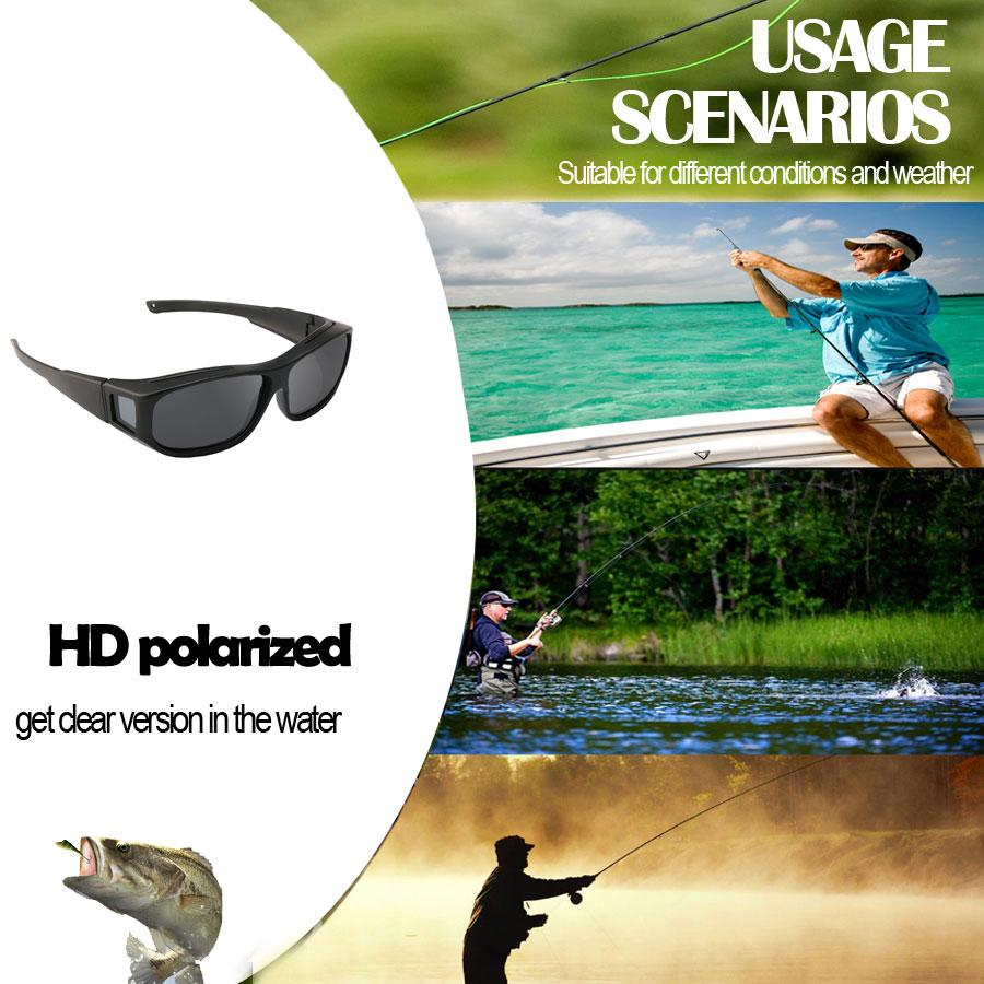Fishing Riding Golf Cycling Climbing Skiing Driving Polarized Clear Vision Glasses UV400 Sunglasses