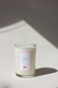 Eden floral green botanical hand poured soy wax candle made in chicago