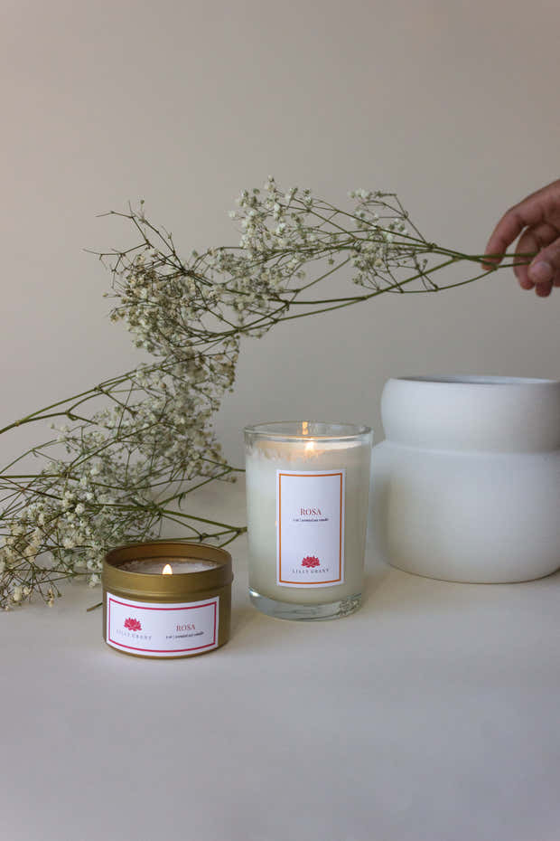 ROSA CANDLE 1