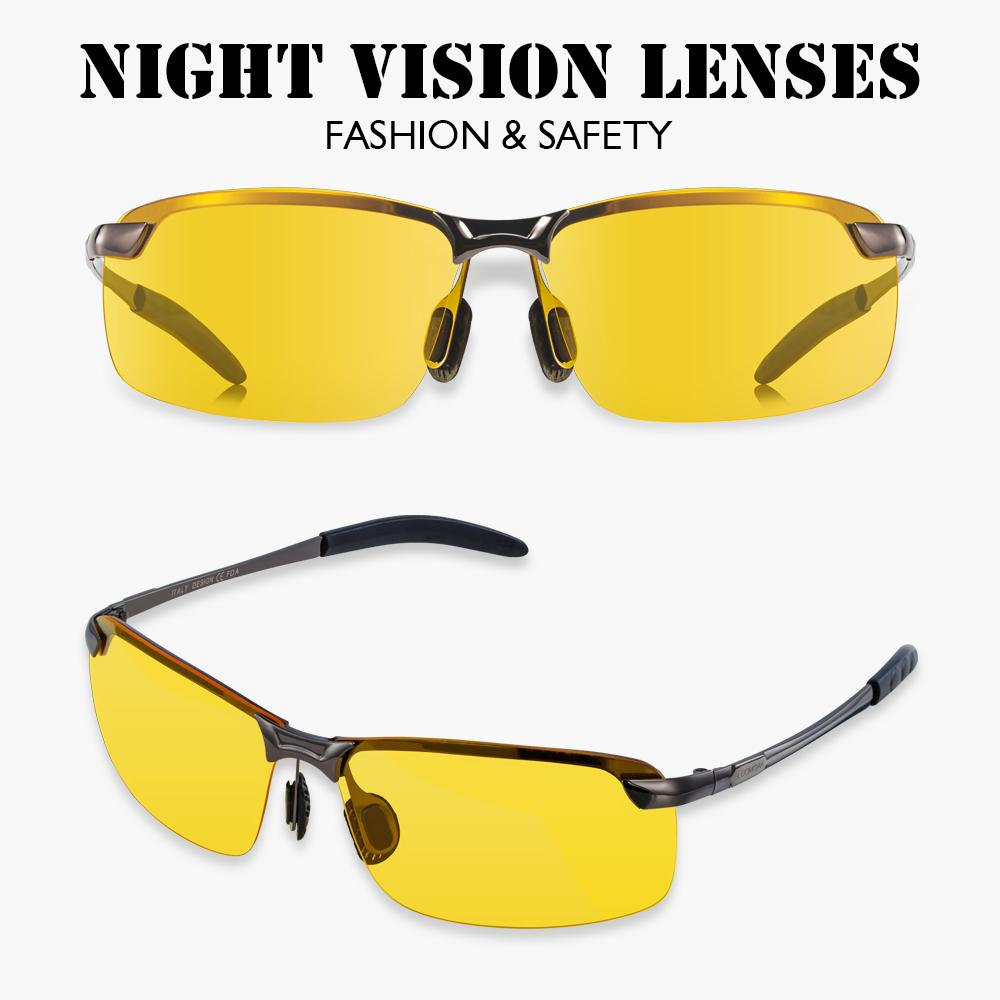 Night Vision HD Driving Glasses UV 400Protection Lens Unisex