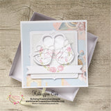 Kartka z bucikami | Baby card in the box c14b23