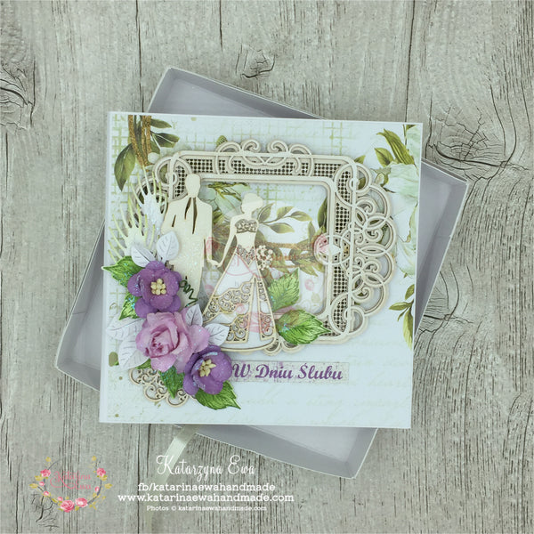 Kartka ślubna w pudełku | Wedding card in the box c14b30