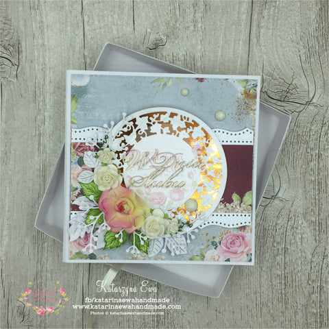 Kartka ślubna w pudełku | Wedding card in the box c14b31
