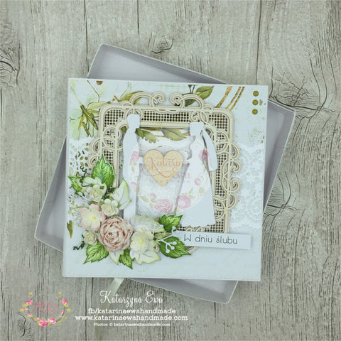 Kartka ślubna w pudełku | Wedding card in the box c14b32