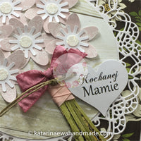 Kartka na Dzień Mamy |  Mother's Day card  cp20 - pink