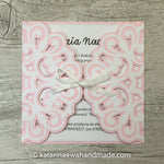 Invitation  inv04-pink 'Geometric lace'