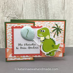 Kartka urodzinowa z dinozaurem |  Birthday card with dinosaur cp14