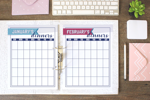 Monthly Meal Planning Calendar Printables