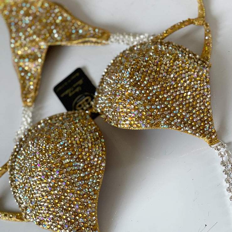 Queen Gold Mix Competition Bikini or Wellness Suit (453)