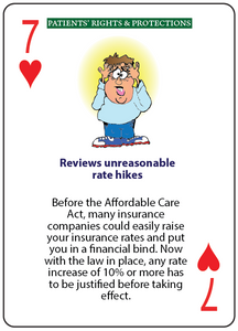 Benefits of Obamacare Playing Cards