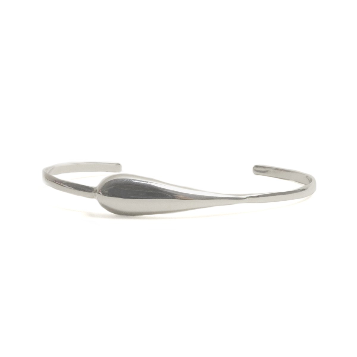 Sterling Silver One Drop Cuff Bracelet - Aqua Collection