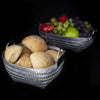 Woven Aluminum Fruit/Bread Basket with Handles