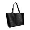 Otomí Black Leather Tote
