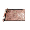 Otomí Engraved Metallic Rose Gold Mini Clutch
