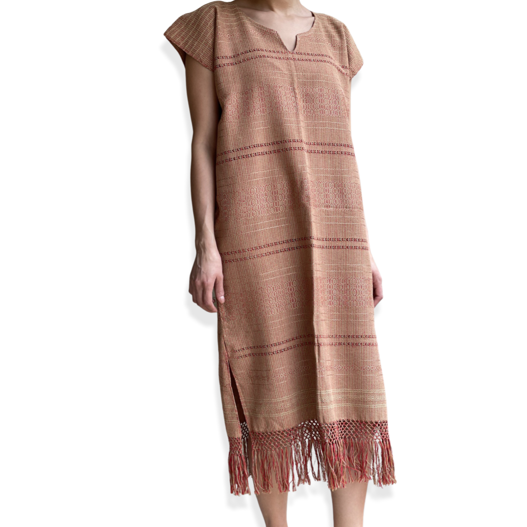 Lineas Long Huipil de Telar Dress