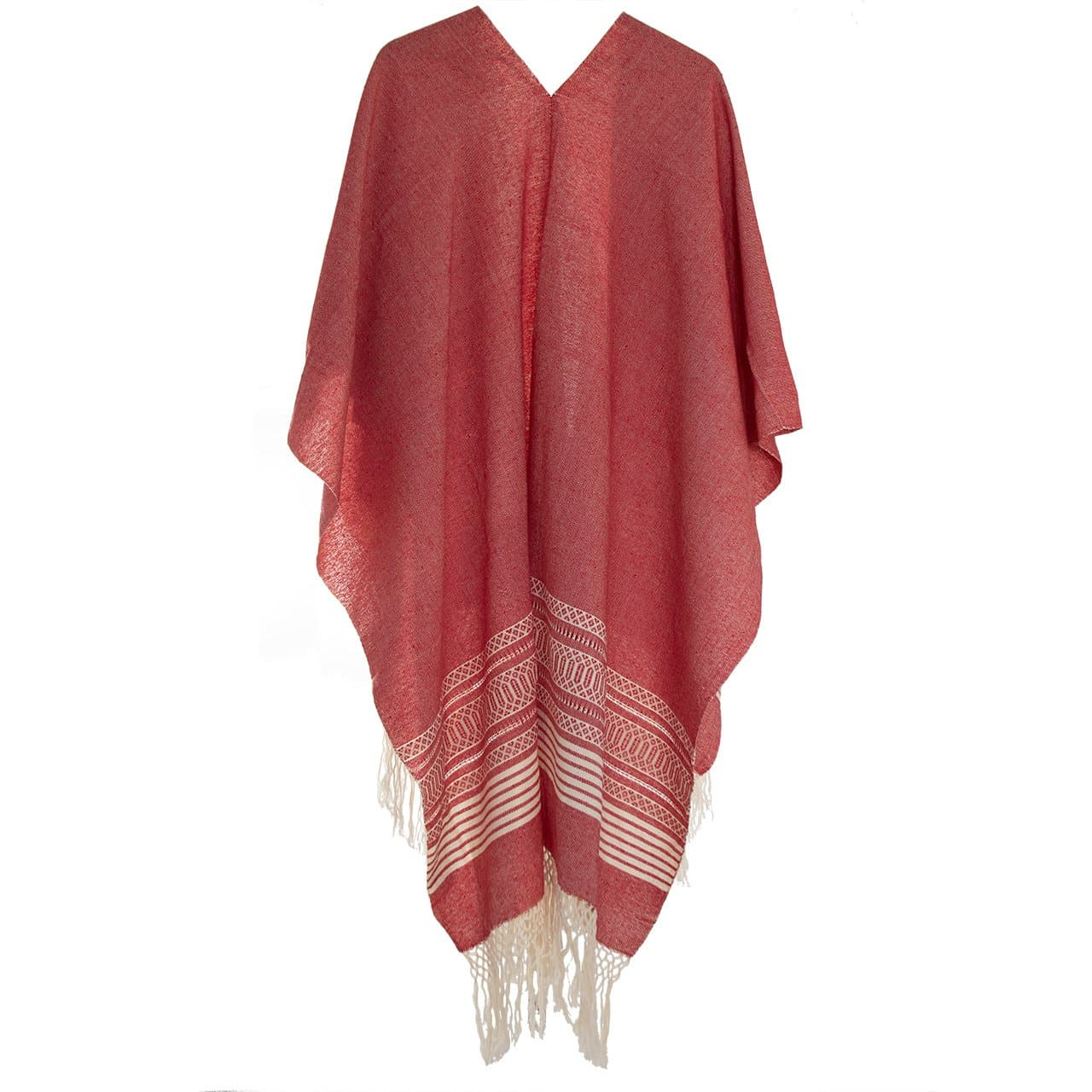 Warm Cape/Poncho in Solid Color and Lines