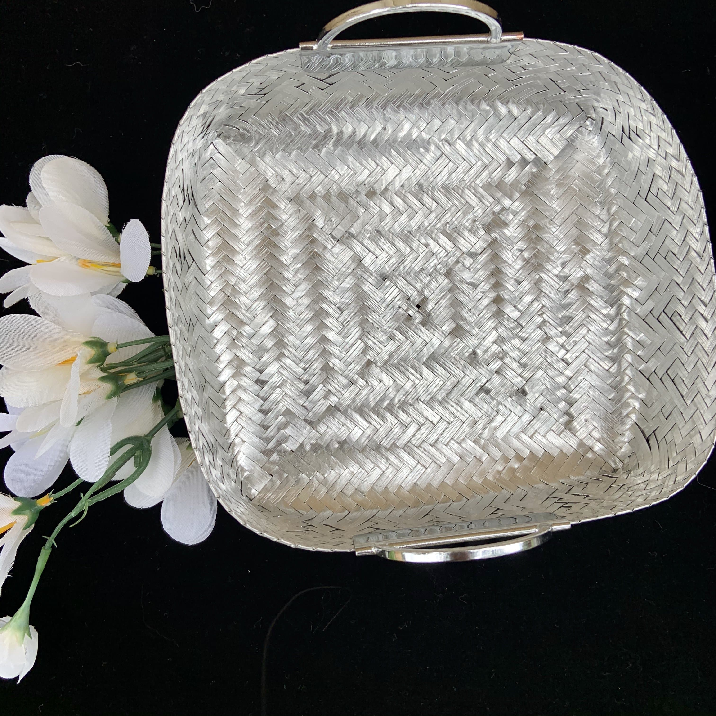 Woven Aluminum Basket with Handles