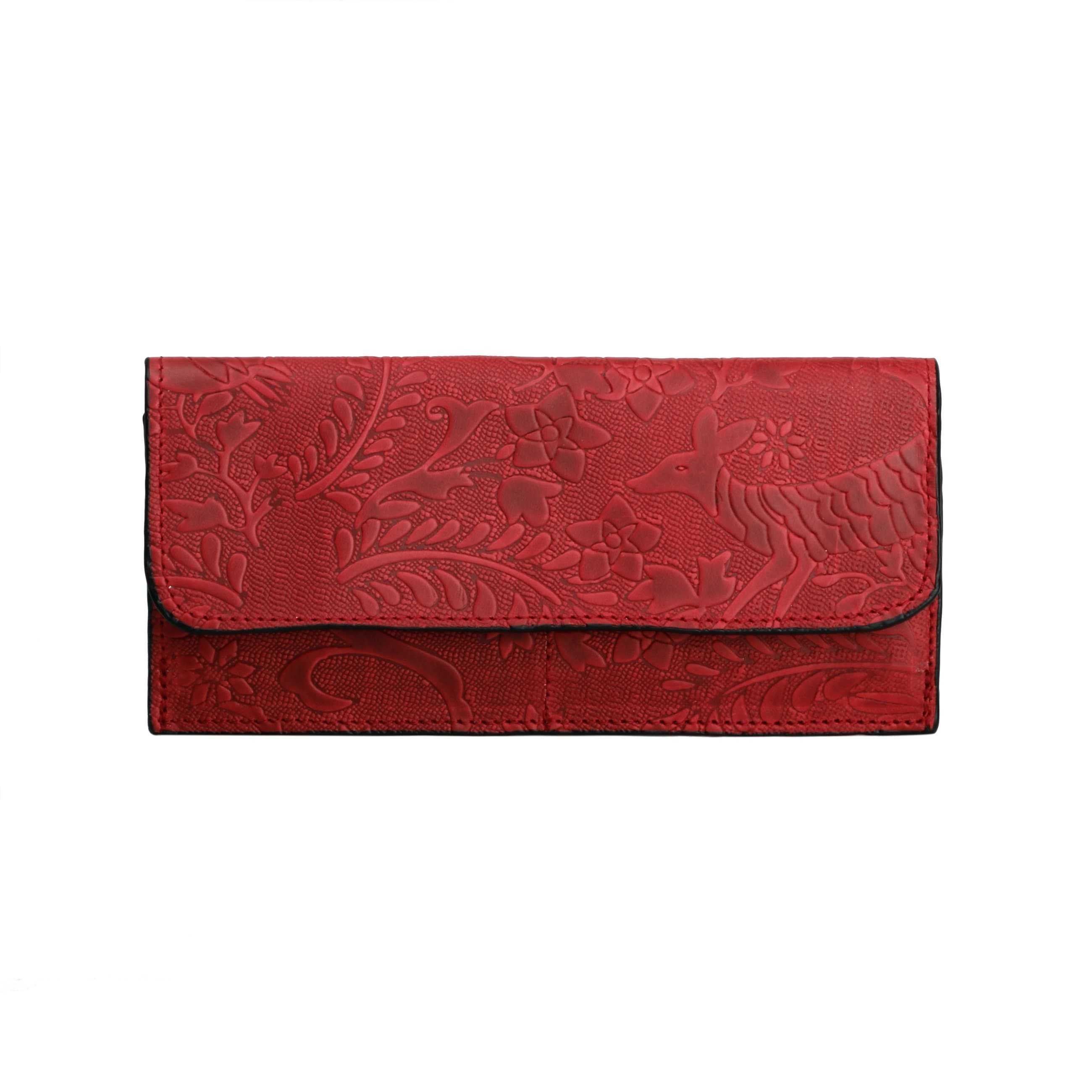 Otomí Merlot Pink Leather Wallet