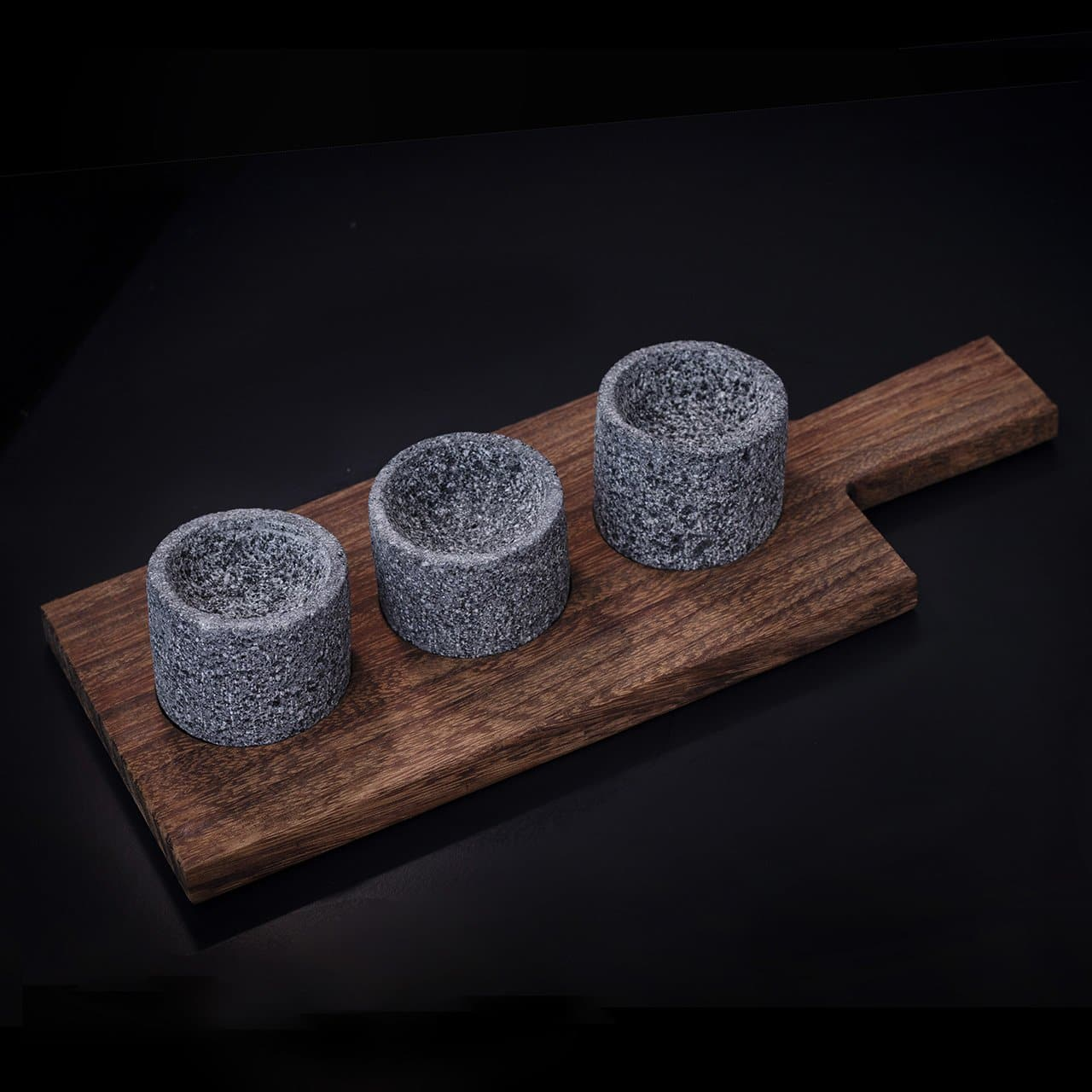 Volcanic Stone 4 Piece Serving Tray - Rectangular