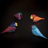 Hand Painted Parrot Wooden Figurine