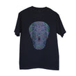 Rhinestone Embellished Sugar Skull Design T-Shirt for Men - Black