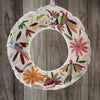 Otomí Embroidered Plush Cover for Christmas Wreath