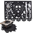 "Felt ""Papel Picado"" Black Placemats (Set of 6)"