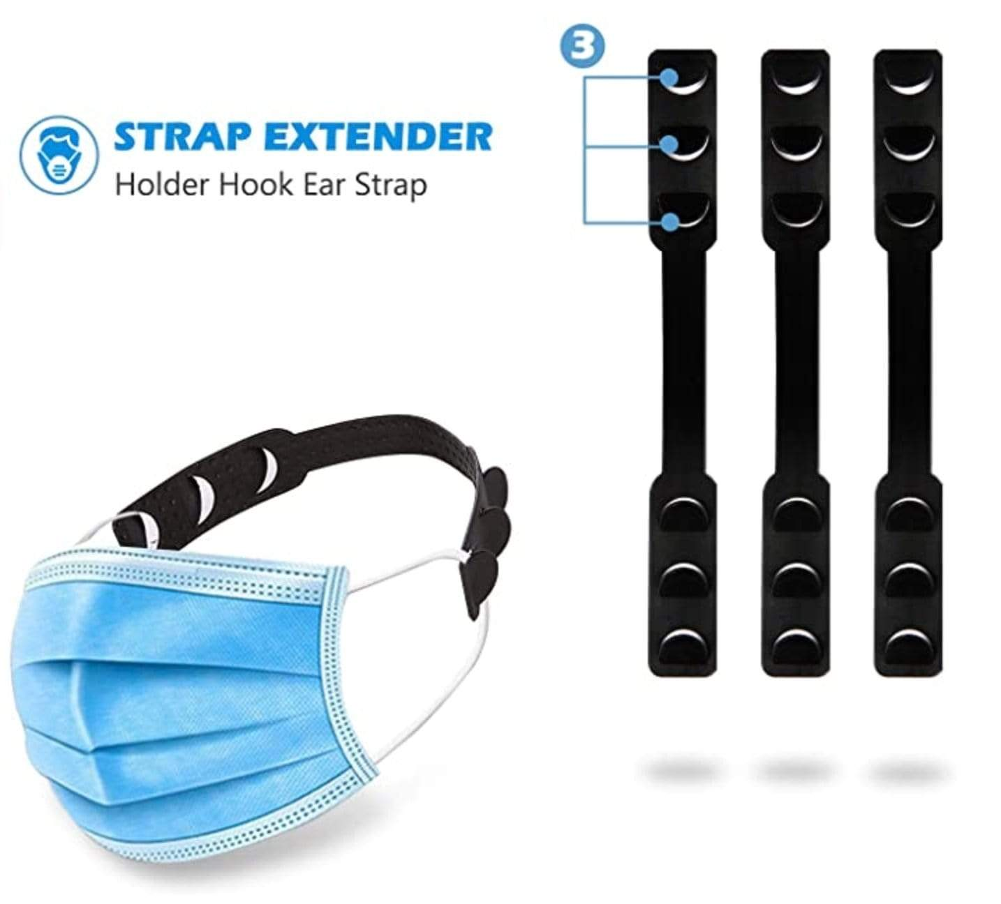 Adjustable Mask Strap Extender Holder