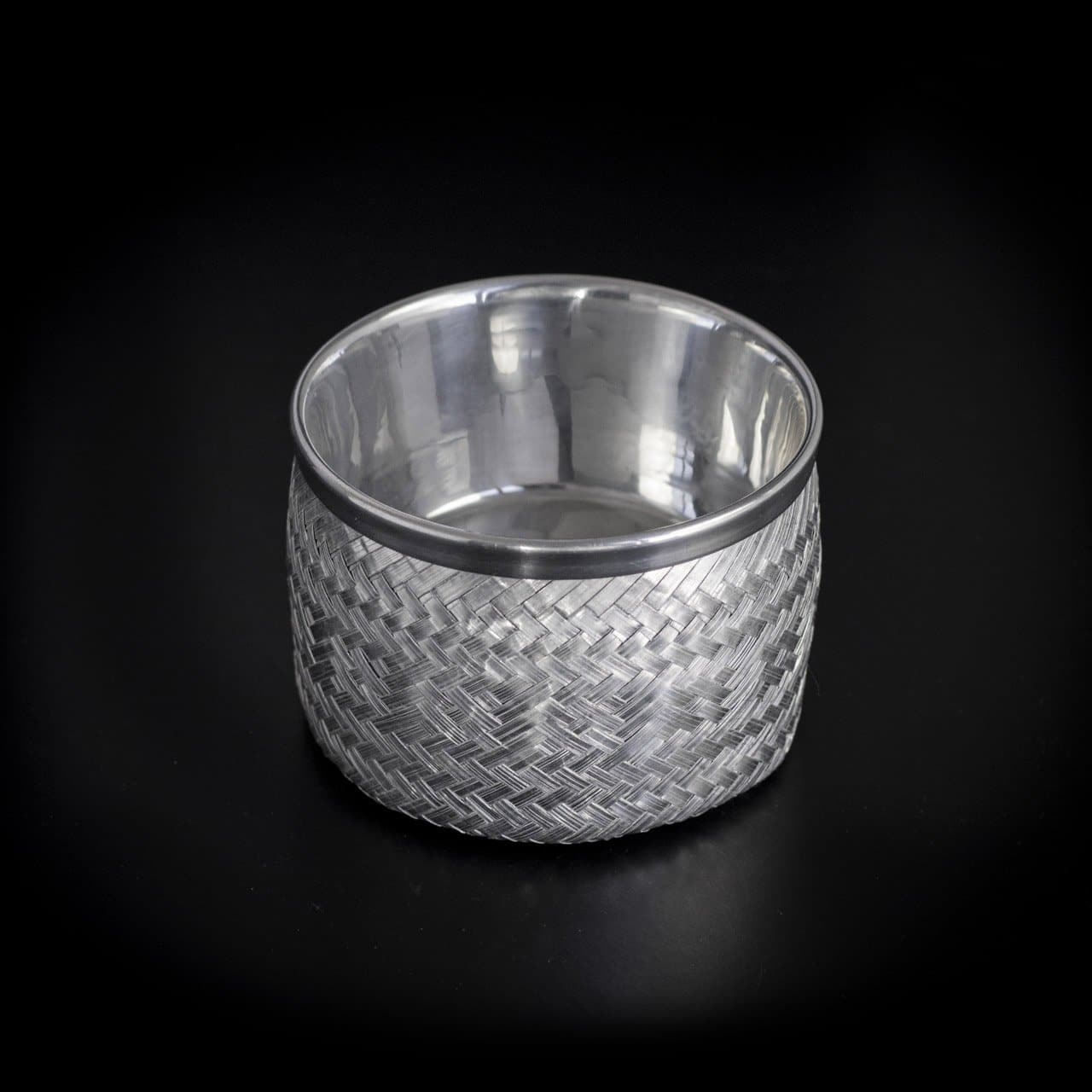 Woven Aluminum Bowl with Removable Base