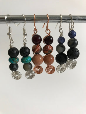 Afrocentric Gemstone Earrings
