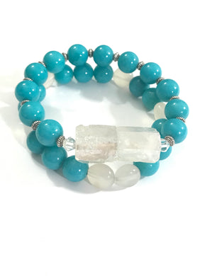 Quartz & Gemstone Bracelets