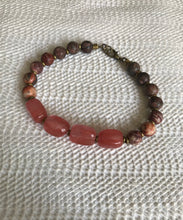 Load image into Gallery viewer, Cherry Quartz and Jasper Bracelet