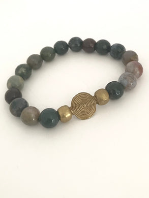 Indian Agate Afrocentric Bracelet