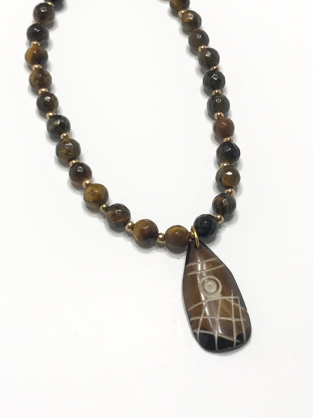 Tiger Eye Necklace with Pendant