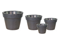 Glazed Basic Pot Matt. Black S4 D18/47H16/39