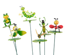 Gardenstick Animal On Leaf 6S Assorted L9W9H60