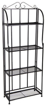 Baron Etagere 4 Shelf Black L50W21H131