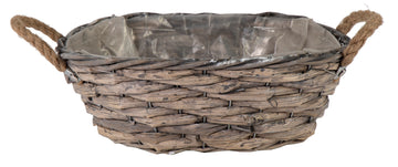 Bobs Bush Basket Oval Grey L24W17H10
