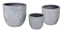Arizona Egg Pot Washed Grey S3 D25/39H25/38