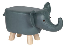 Animal Stool Elephant Blue/Grey L50W28H24