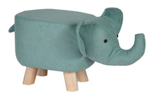 Animal Stool Elephant Light Blue L50W28H24