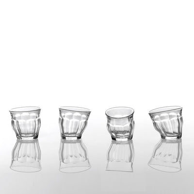 4 Clear Tipsy Glasses