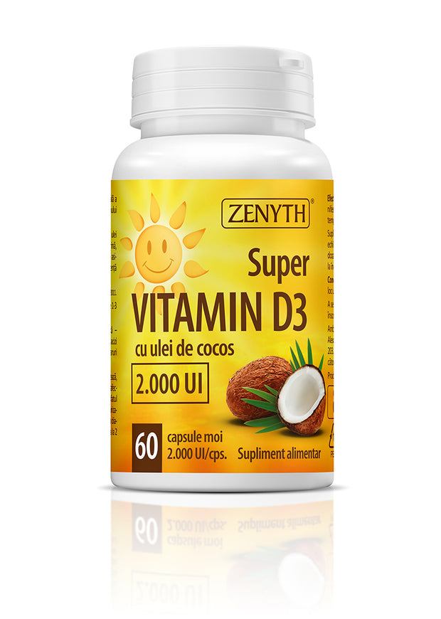 Super VITAMIN D3, 2000 UI, 60 cps.