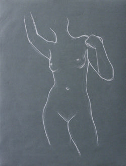 Figure on Blue no.2 | 19x25