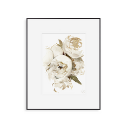 Neutral Peonies Print