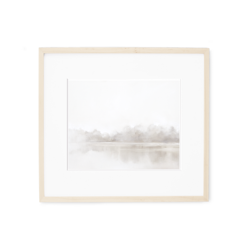 Winter Fog Print