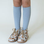 LITTLE STOCKING COMPANY POWDER BLUE KNEE HIGH SOCKS