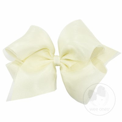 WEE ONES OVERLAY ANTIQUE WHITE BOW ANW