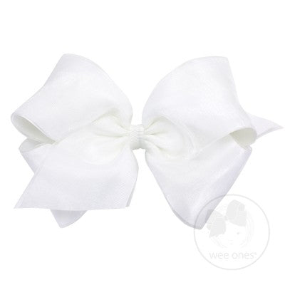 WEE ONES OVERLAY WHITE BOW